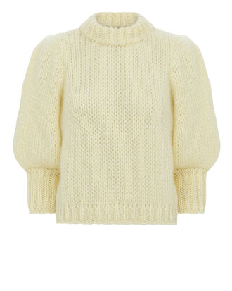Julliard Cropped Sweater, IVORY, hi-res