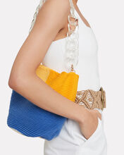 Bright Colorblock Midi Bucket Bag, MULTI, hi-res