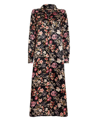 Floral Print Shirt Dress, MULTI, hi-res