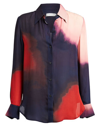 Jayne Tie-Dye Silk Blouse, MIDNIGHT/OMBRE, hi-res