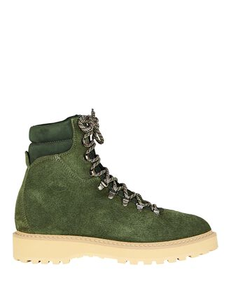 Monfumo Suede Lace-Up Boots, GREEN, hi-res