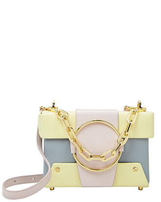 Asher Box Chain Strap Colorblocked Bag, LIGHT COLORBLOCK, hi-res