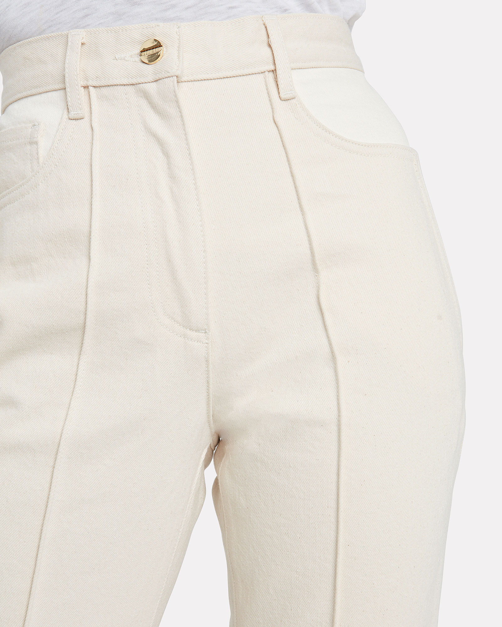 Signature High-Waist Ankle Jeans, IVORY, hi-res
