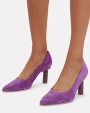 Zo Architectural Heel Pumps, PURPLE, hi-res