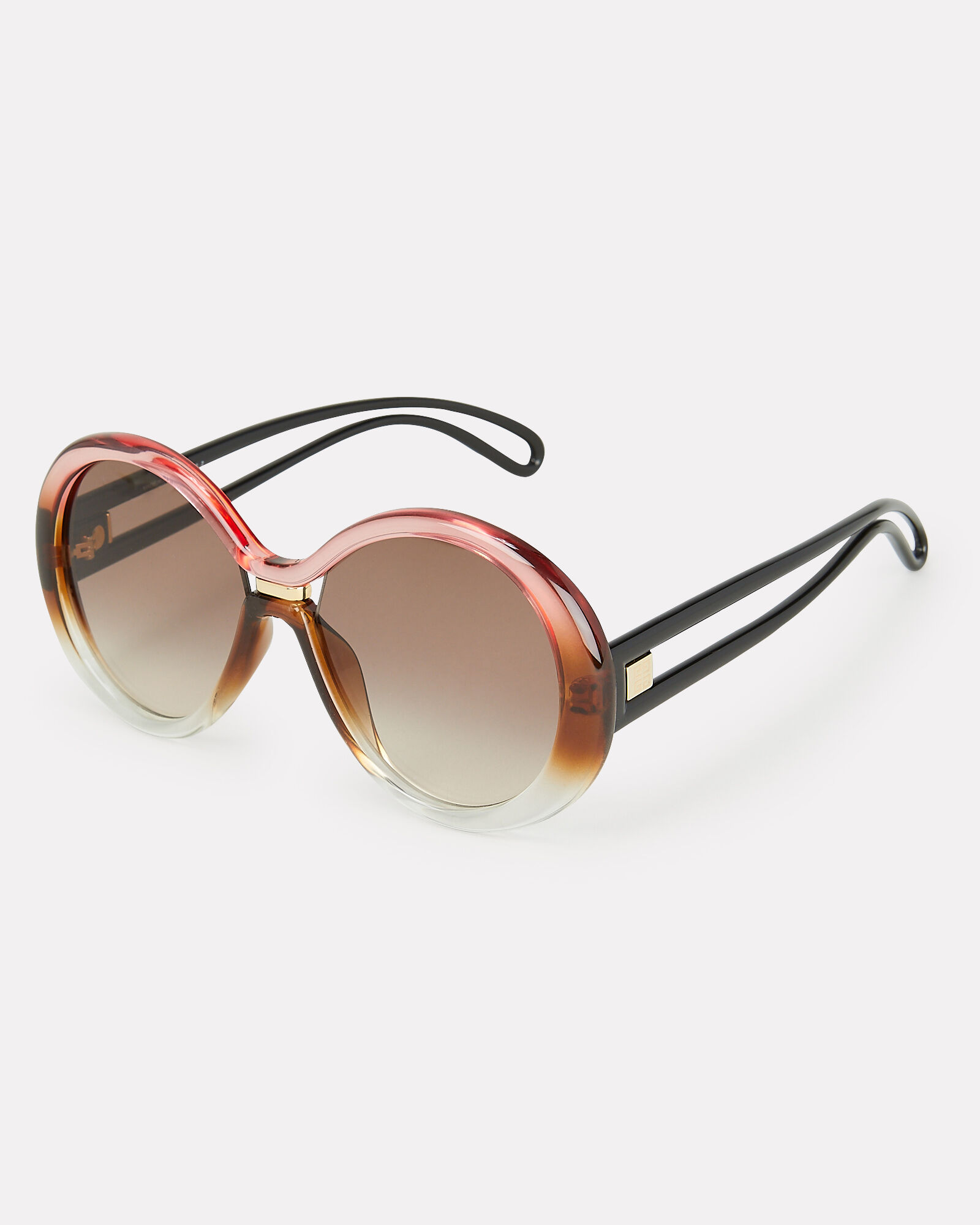7105 Oversized Round Sunglasses, PINK, hi-res