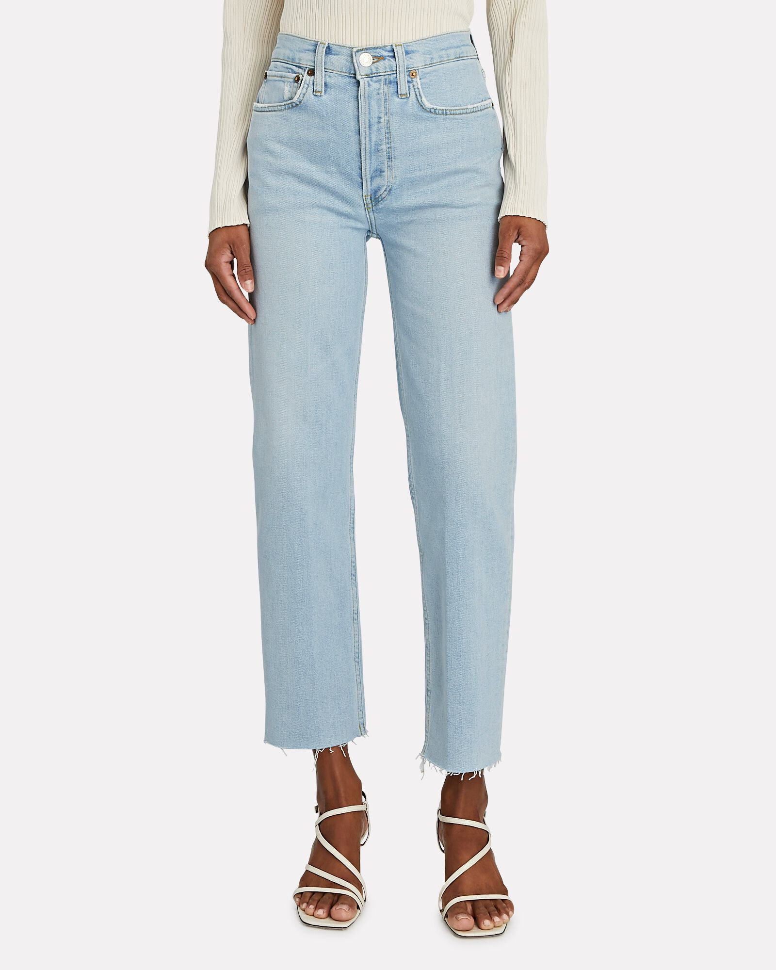 70s High-Rise Stove Pipe Jeans, ICY BLUE, hi-res