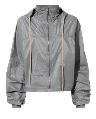 Cropped Windbreaker Jacket, GREY, hi-res