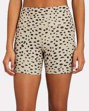 Spotted Rib Knit Bike Shorts, BEIGE/BLACK, hi-res