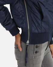 Neil Quilted Bomber Jacket, NAVY, hi-res
