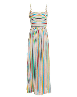 Rainbow Stripe Wide Leg Jumpsuit, Beige/Rainbow, hi-res