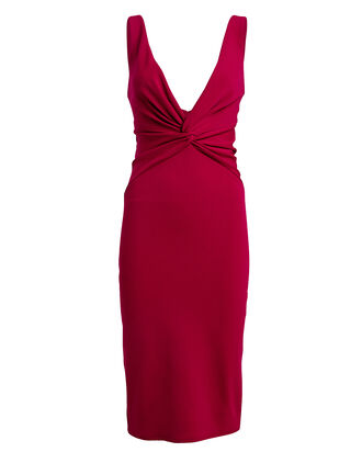 Zaza Twisted Crepe Sheath Dress, RUBY, hi-res