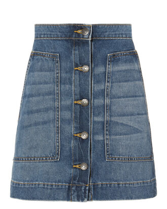 Getty Denim Mini Skirt, DENIM-LT, hi-res