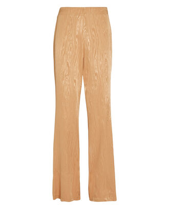Samantha Moiré Wide-Leg Pants, BEIGE, hi-res