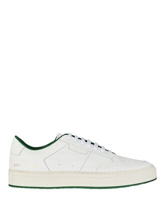 Tennis Leather Low-Top Sneakers, WHITE, hi-res