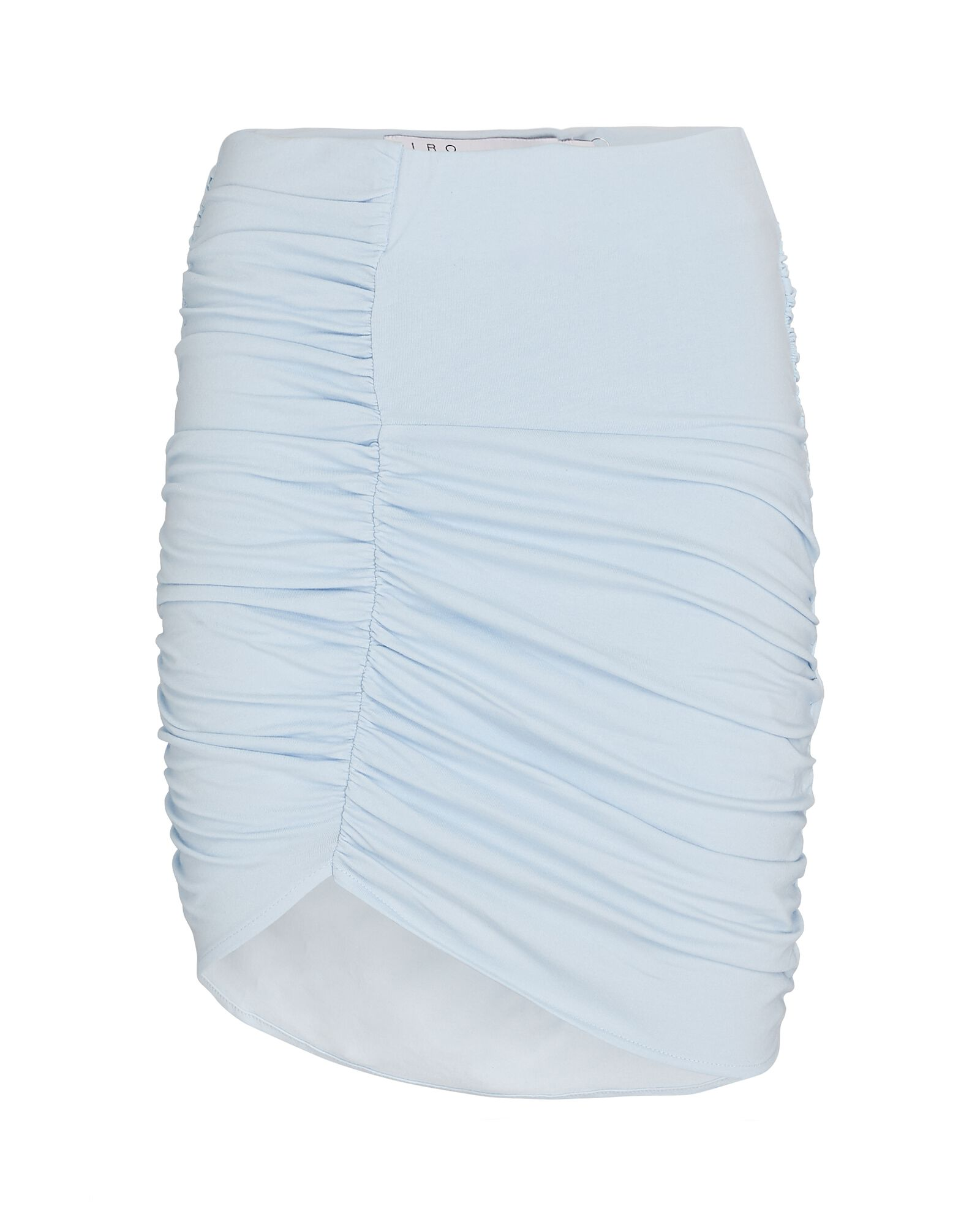 Rollas Ruched Knit Mini Skirt, LIGHT BLUE, hi-res