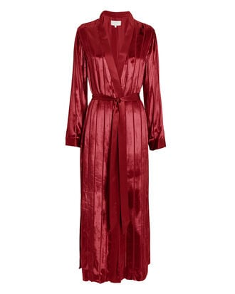 Striped Robe, RED, hi-res