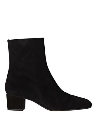 Aimee Suede Ankle Boots, BLACK, hi-res