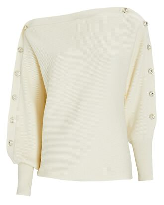 Breanne Cotton-Cashmere Sweater, IVORY, hi-res