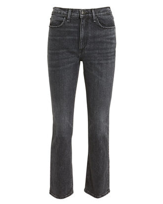 Cigarette Ankle Faded Black Jeans, BLACK DENIM, hi-res