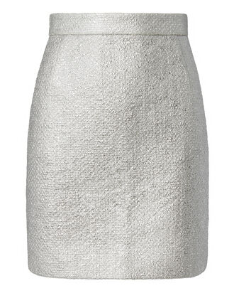 Silver Mini Skirt, METALLIC, hi-res
