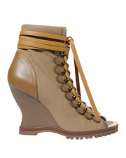River Wedge Boots, BROWN, hi-res