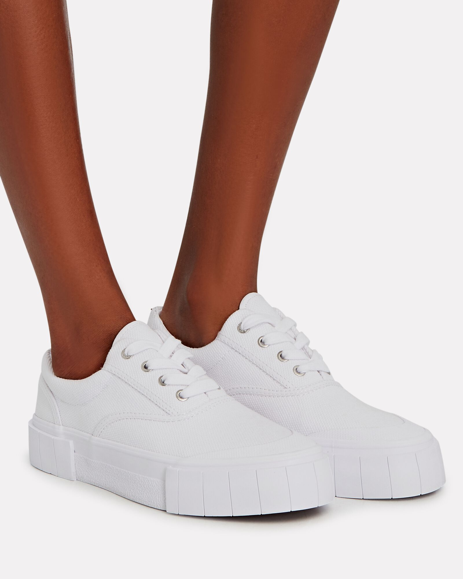 Opal Canvas Low-Top Sneakers, WHITE, hi-res