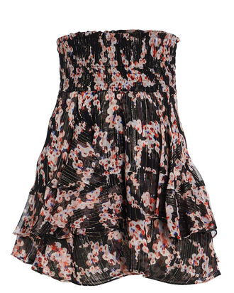 Vera Lurex Floral Mini Skirt, MULTI, hi-res