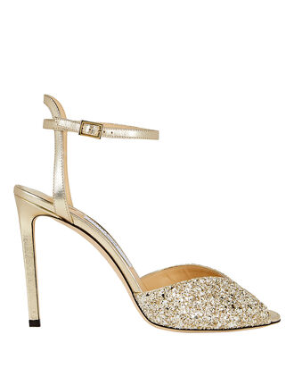 Sacora Metallic Glitter Sandals, GOLD, hi-res