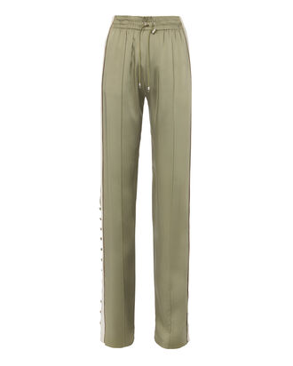 Varsity-Striped Track Pants, OLIVE/ARMY, hi-res