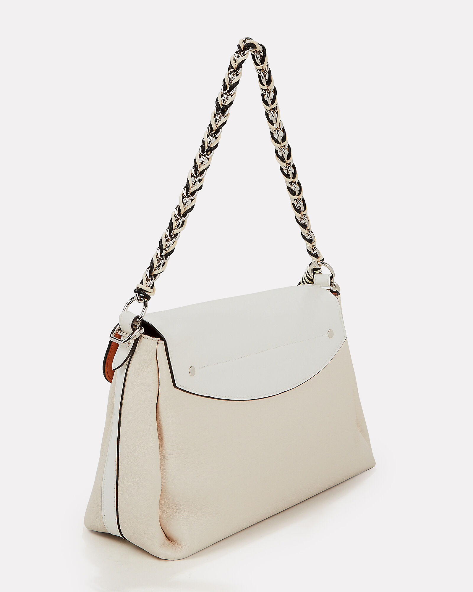 PS11 Ivory Chain Clutch Bag, IVORY/WHITE, hi-res