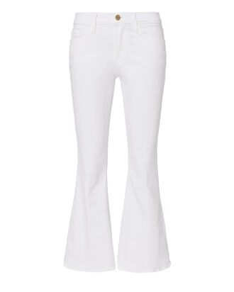 Le Crop Bell White Jeans, WHITE, hi-res