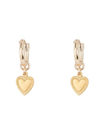 The Best Is Yet To Come Huggie Earrings, GOLD, hi-res