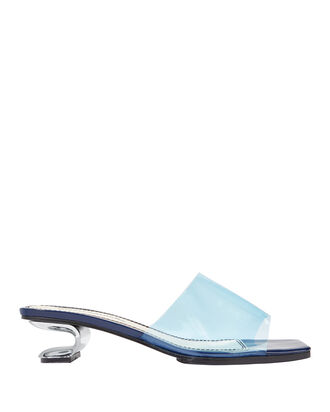 Sarah Metal Cutout Slide Sandals, BLUE-LT, hi-res