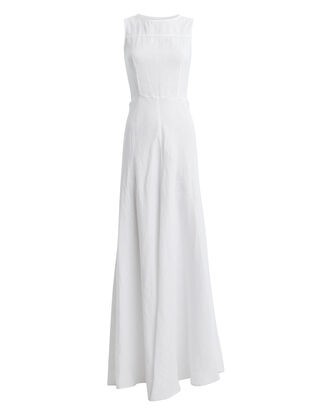 Lisette Linen Maxi Dress, WHITE, hi-res
