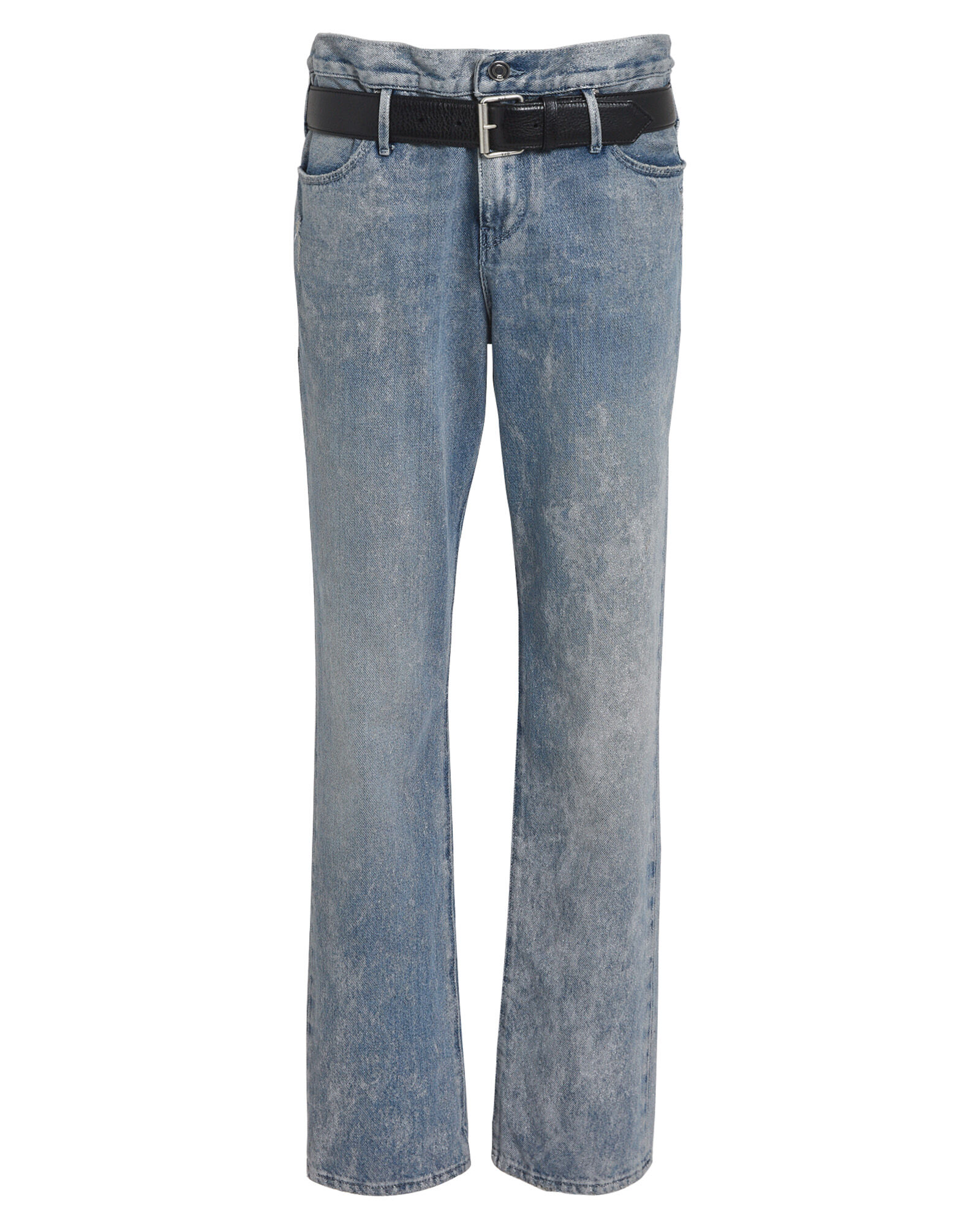 Dexter Half Belt Metallic Jeans, LIGHT WASH DENIM, hi-res