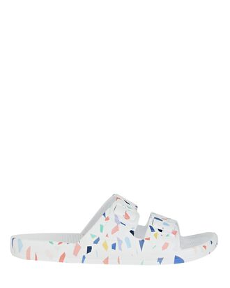 Terrazzo Moses Two Band Slide, WHITE, hi-res