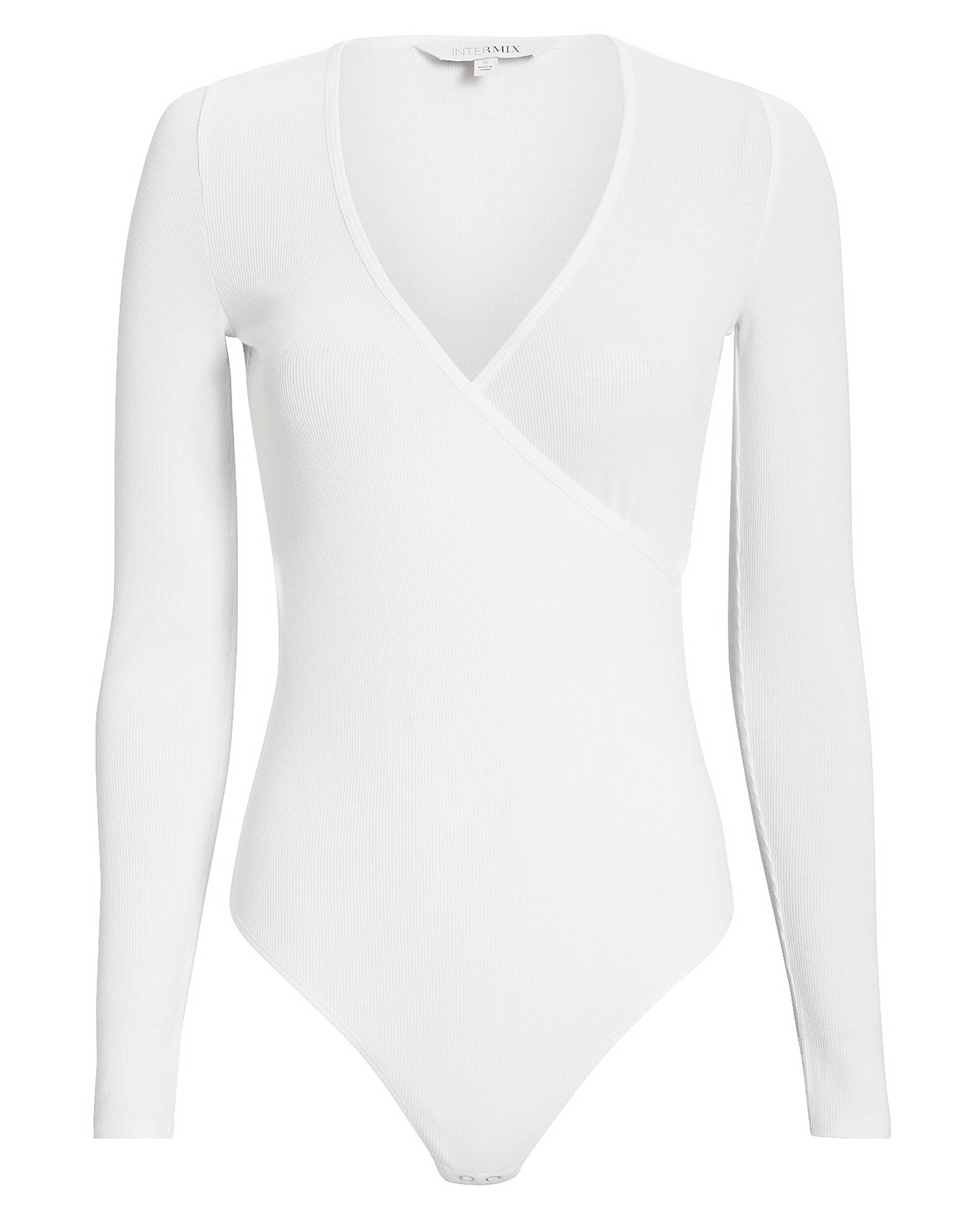 Nevin White Bodysuit, WHITE, hi-res