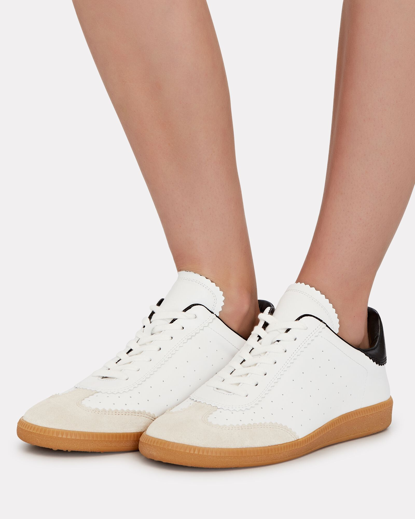Bryce Low-Top Leather Sneakers, WHITE, hi-res