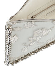 Floral Silk Embroidered Clutch, PRINT, hi-res