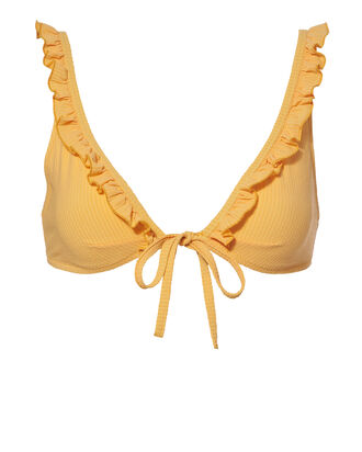 Milly Ruffle Bikini Top, YELLOW, hi-res