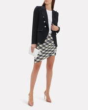 Murphy Check Skirt, NAVY, hi-res