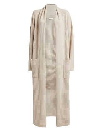 Sloan Cashmere Rib Knit Duster, TAUPE, hi-res