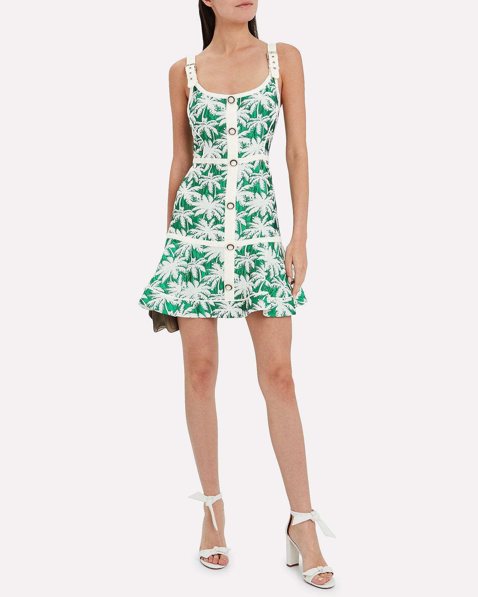 Lisel Sleeveless Jacquard Mini Dress, MULTI, hi-res