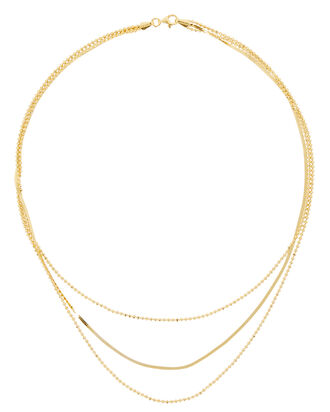 Triple Layer Chain Neckace, , hi-res