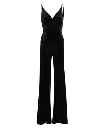 Maeve Velvet Wide-Leg Jumpsuit, BLACK, hi-res