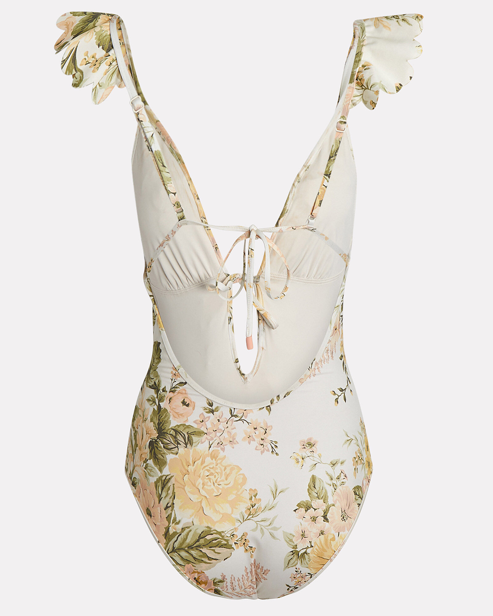 Amelie Frill One-Piece Swimsuit, IVORY/YELLOW, hi-res