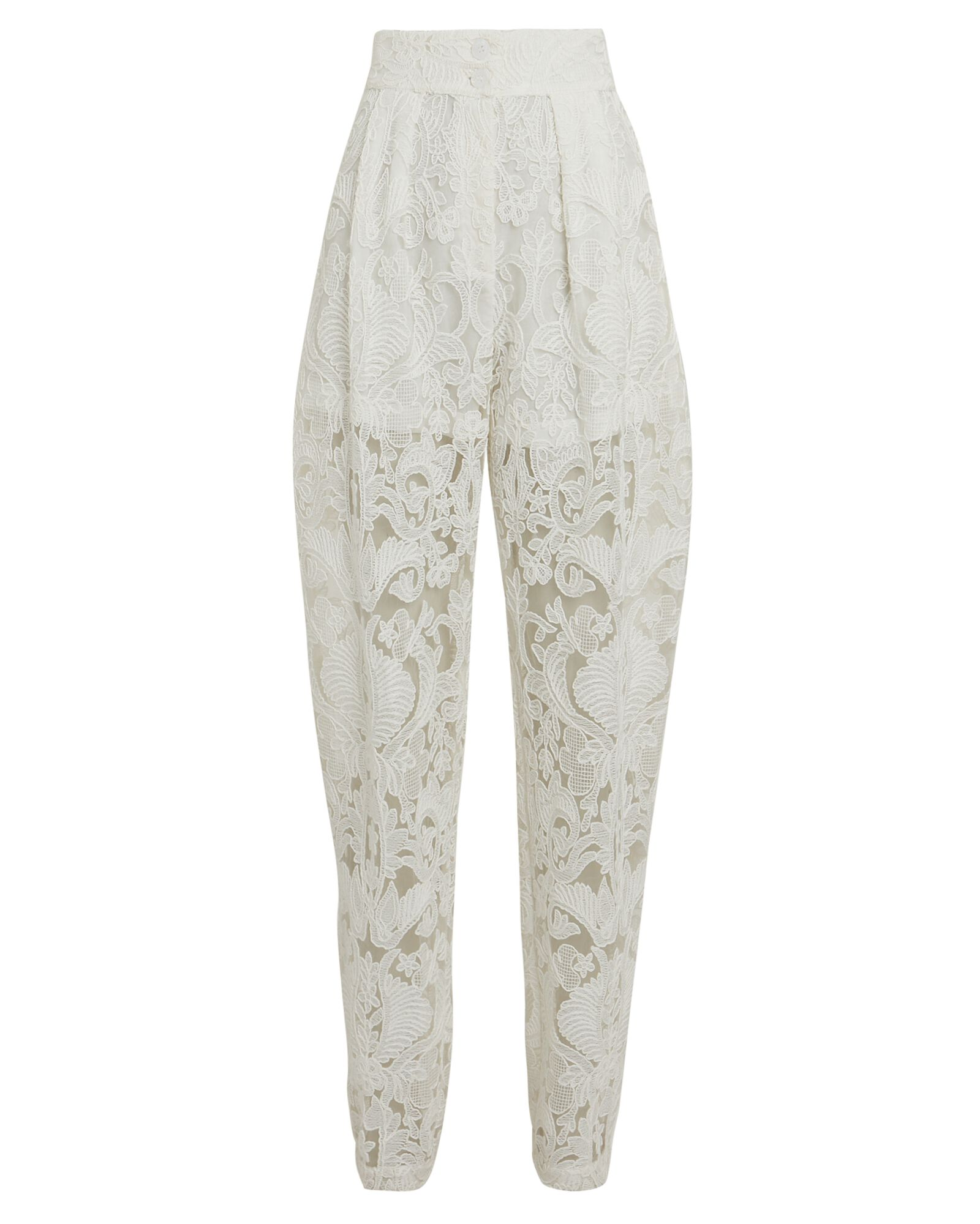 Luther Tapered Lace Pants, WHITE, hi-res