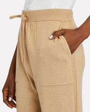 Recycled Cashmere Lounge Joggers, BEIGE, hi-res