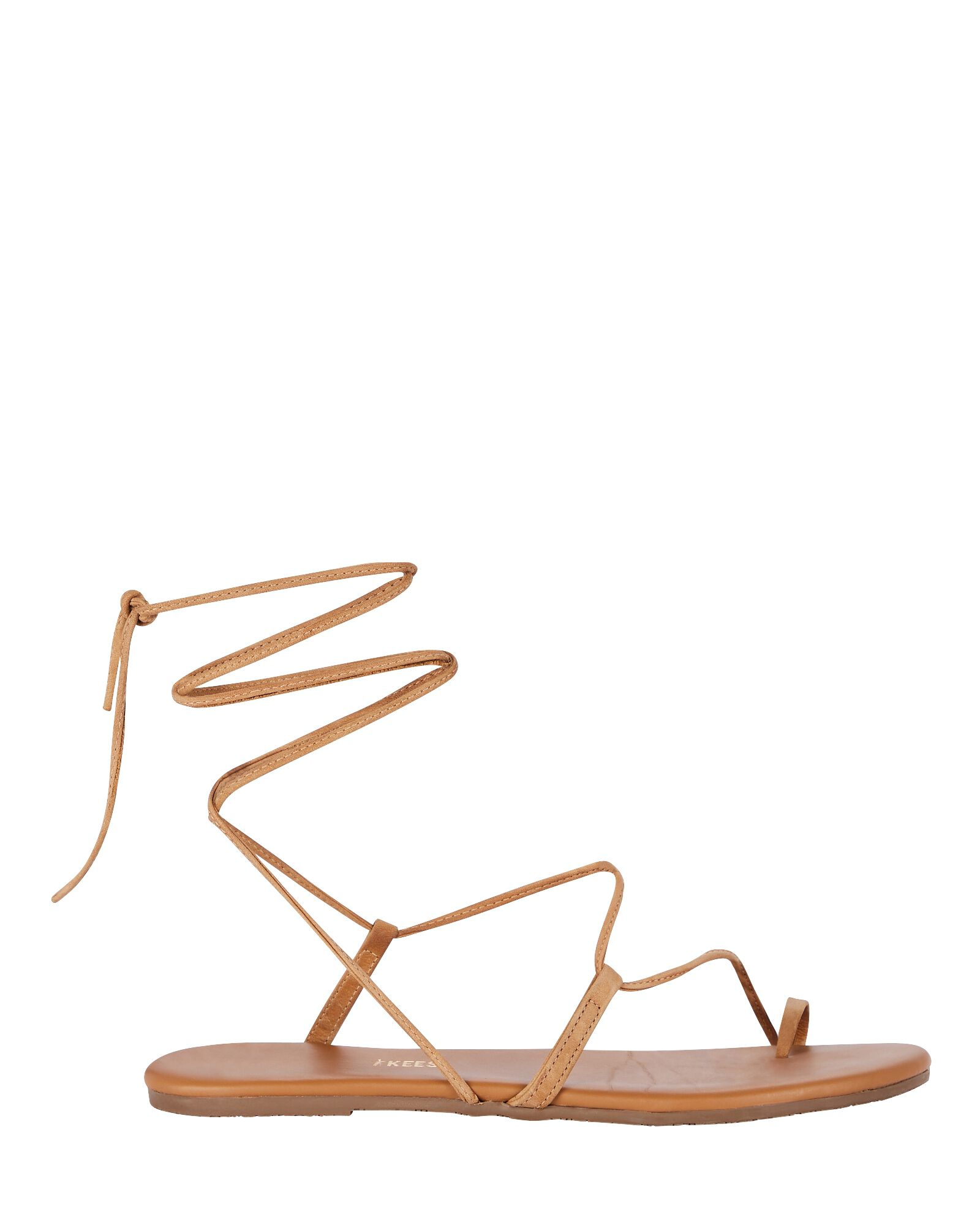 Jo Leather Lace-Up Sandals, LIGHT BROWN, hi-res