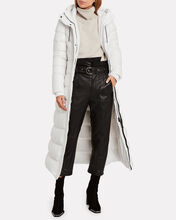 Calina Belted Puffer Coat, WHITE, hi-res